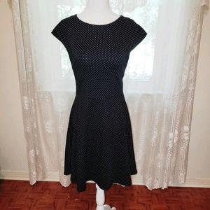 GAP navy and white polka-dot dress NWT